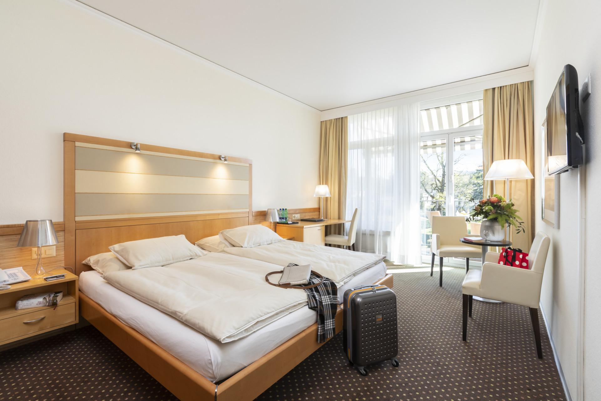 Doppelzimmer im Park-Hotel am Rhein