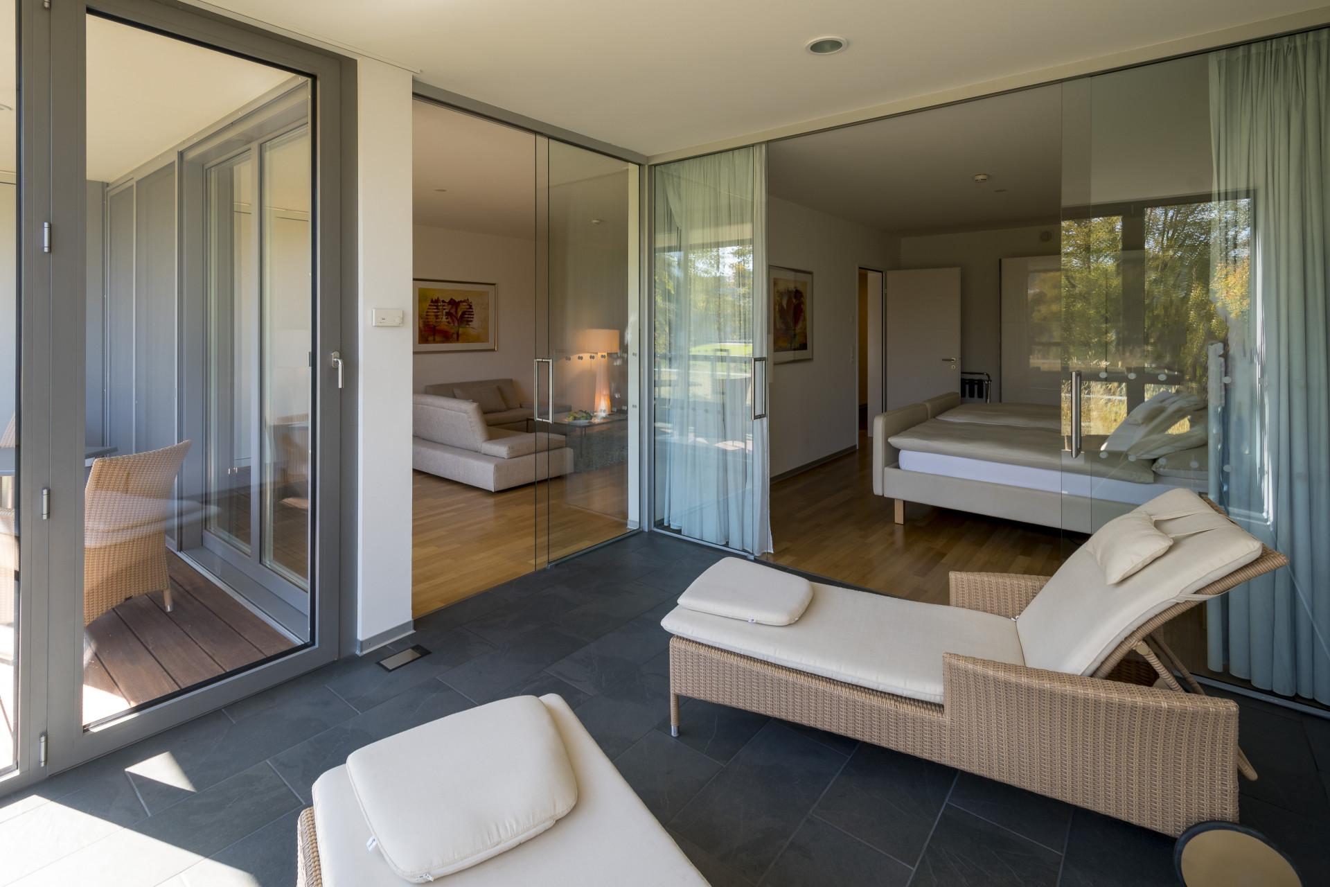 Wintergarten der Junior-Suite im Park-Hotel am Rhein
